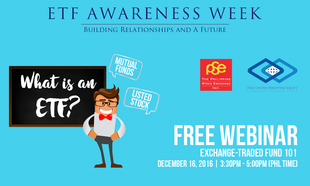 FREE Webinar on Exchange Traded Funds (ETF) From PSE and FMETF.